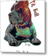 Pit Bull Pop Art Metal Print