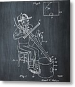 Pitch Fork Fiddle And Drum Patent 1936 - Chalk Metal Print