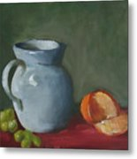 Pitcher With Fruit Metal Print