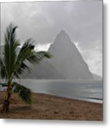 Pitons - St. Lucia Metal Print