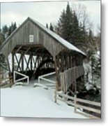 Pittsburg-clarksville Covered Bridge Metal Print