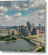 Pittsburg Skyline Metal Print