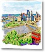 Pittsburgh Aerial View Metal Print