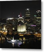 Pittsburgh At Night Metal Print