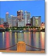Pittsburgh At Waters Edge Metal Print