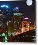 Pittsburgh Full Moon Panoramic Metal Print