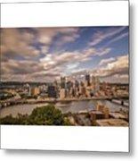 Pittsburgh Long Exposure Skyline. The Metal Print