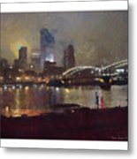 Pittsburgh Night Metal Print