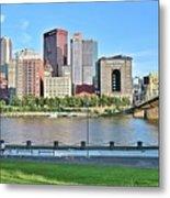 Pittsburgh Pa Panoramic Metal Print