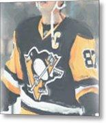Pittsburgh Penguins Sidney Crosby 3 Metal Print