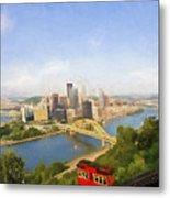 Pittsburgh Pennsylvania Incline Metal Print