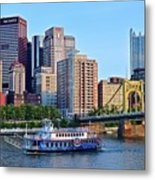 Pittsburgh River Cruise  Metal Print