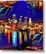 Pittsburgh Skyline Art Metal Print