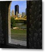 Pittsburgh Skyline, North Shore Arch, Pittsburgh, Pa  Metal Print