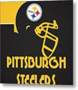 Pittsburgh Steelers Team Vintage Art Metal Print