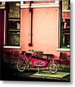 Pizza Delivery Bike Metal Print