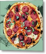Pizza - The Corleone Special Metal Print