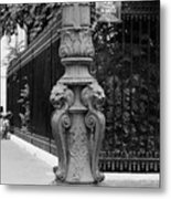 Place Charles De Gaulle - Black And White Metal Print