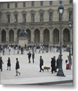 Place Du Carrousel At The Louvre Metal Print