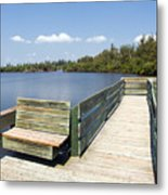 Place For Fishing Or Just Sitting At Round Island In Florida  Metal Print
