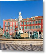 Place Massena Of Nice In France Metal Print
