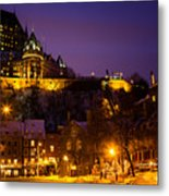 Place-royale At Twilight Quebec City Canada Metal Print