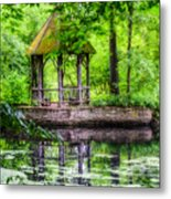 Place To Relax And Meditate  Metal Print