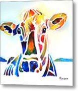 Placid The Cow Metal Print