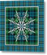 Plaid Snowflakes-jp3704 Metal Print