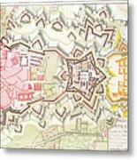 Plan Of Part Of The City And Citadel Of Strasbourg Metal Print