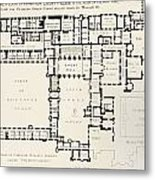 Plan Of Principal Floor Of Hampton Metal Print