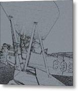 Plane 3 Metal Print
