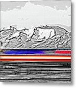 Plane At Airport 1 Metal Print by Steve Ohlsen