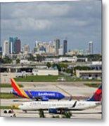 Planes By Fort Lauderdale Metal Print