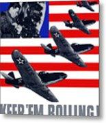 Planes -- Keep 'em Rolling Metal Print