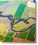 Planet Art Colorful  Midwest Aerial Metal Print
