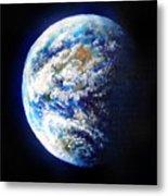 Planet Earth. Space Art Metal Print