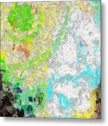 Planet Green Metal Print