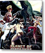 Planet Of Dinosaurs, 1-sheet Poster Metal Print