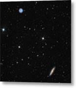 Planetary Nebula Messier 97 Owl Nebula And Galaxy Messier 108 In Constellation Ursa Major Metal Print