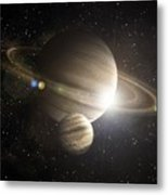 Planetary Ring Metal Print