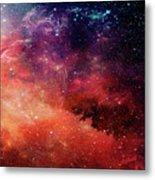 Planetary Soul Violet Metal Print