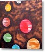 Planets At Night Metal Print