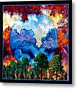 Planets Image Two Metal Print