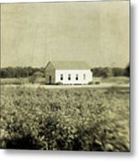 Plantation Church - Sepia Texture Metal Print