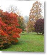 Planting Fields Red Tree Metal Print