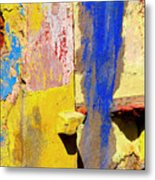 Plaster Abstract 12 By Michael Fitzpatrick Metal Print