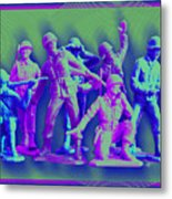 Plastic Army Man Battalion Pop Metal Print
