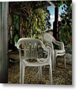 Plastic Chairs Metal Print