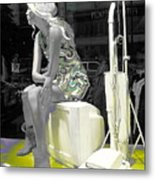 Plasticgirl In A Show-window Bruxelles - Bruxelles Metal Print by Yury Bashkin